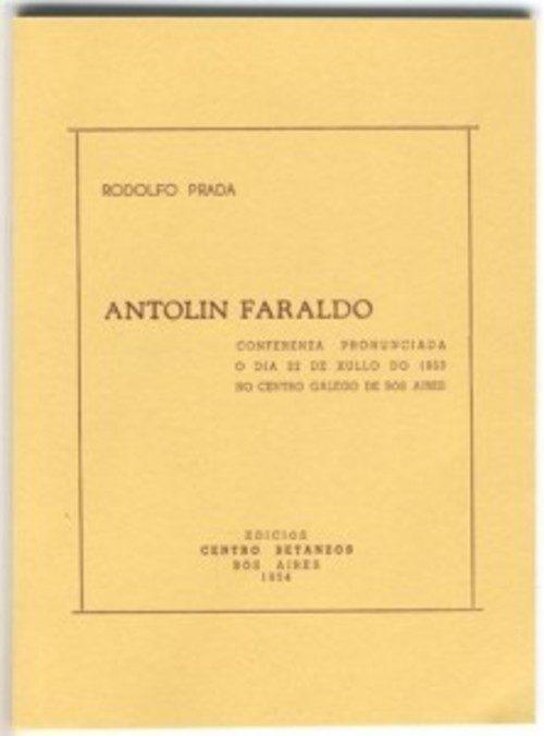 Antolín Faraldo (Edición facsímile). Prada, Rodolfo. ISBN: 978-92-0-054286-2